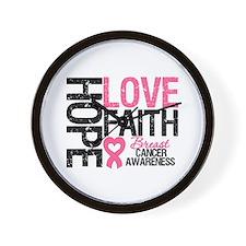 Breast Cancer Faith Wall Clock
