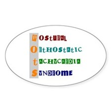 POTS Syndrome Oval Stickers