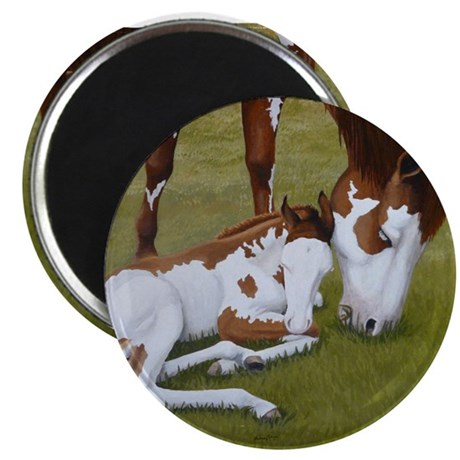Paint Mare & Foal Magnet