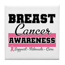 Breast Cancer Tile Coaster