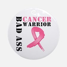 BadAss BreastCancerWarrior Ornament (Round)