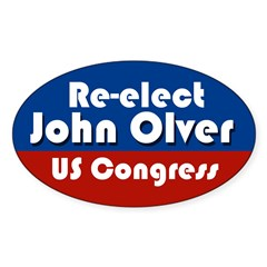 Re-elect John Olver to Congress bumper sticker