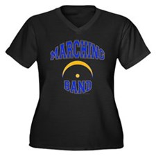 Marching Band Women's Plus Size V-Neck Dark T-Shir