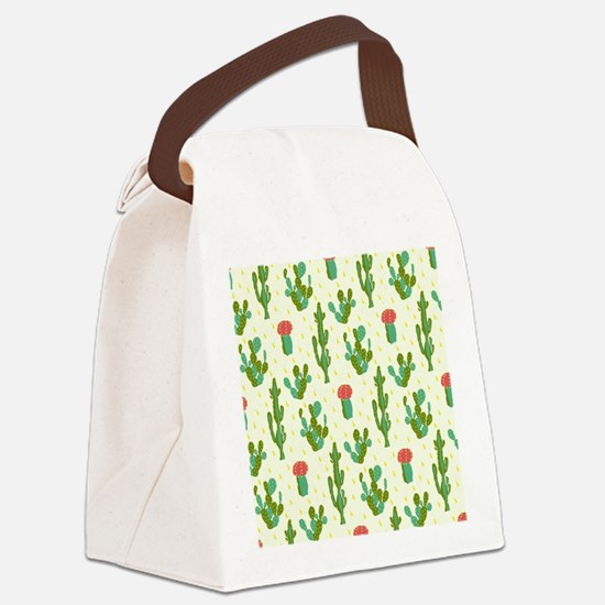 Cactus Pattern Canvas Lunch Bag