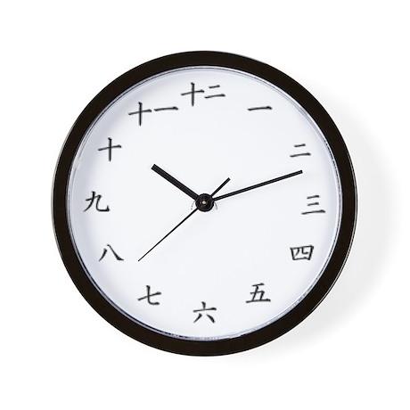 8-Bit Kanji wall clock
