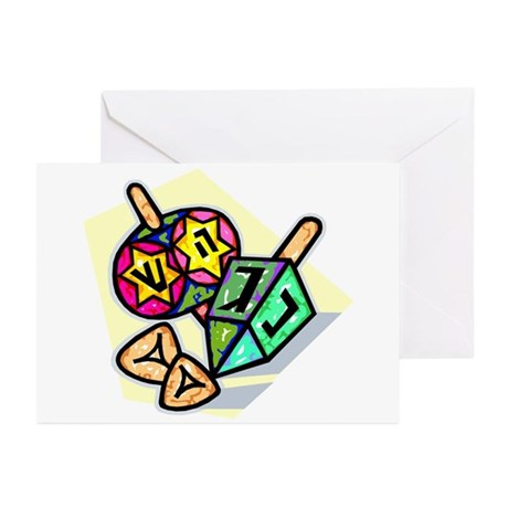Jewish Dreidels Greeting Cards (Pk of 20)