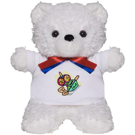Jewish Dreidels Teddy Bear
