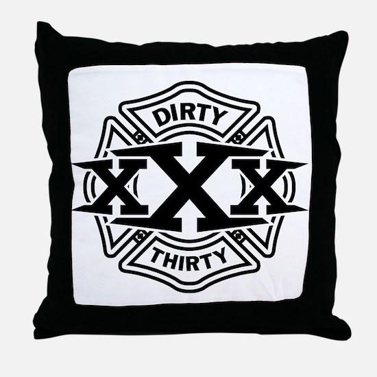 Dirty 30 Throw Pillow