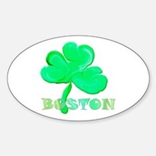 Boston Clover Oval Decal