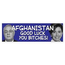 Afghanistan you bitches Bumper Bumper Sticker
