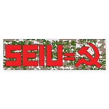SEIU=COM Bumper Bumper Sticker