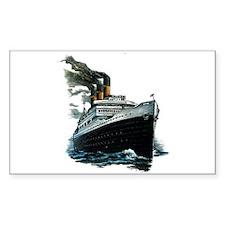 BLACK SHIP Rectangle Decal