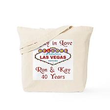 Ron & Kay Personalized Las Vegas Tote Bag