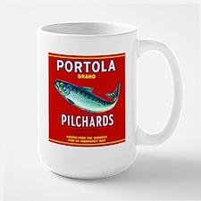 Portola Sardine Label 2 Large Mug