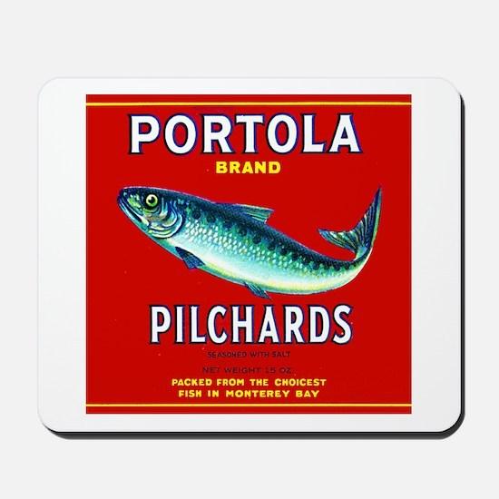 Portola Sardine Label 2 Mousepad