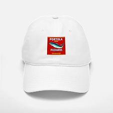 Portola Sardine Label 2 Baseball Baseball Cap