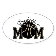 Basketball Mom Oval Decal