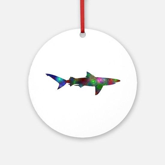 SHARK Round Ornament