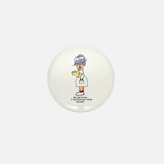 Be Nice Nurse Mini Button