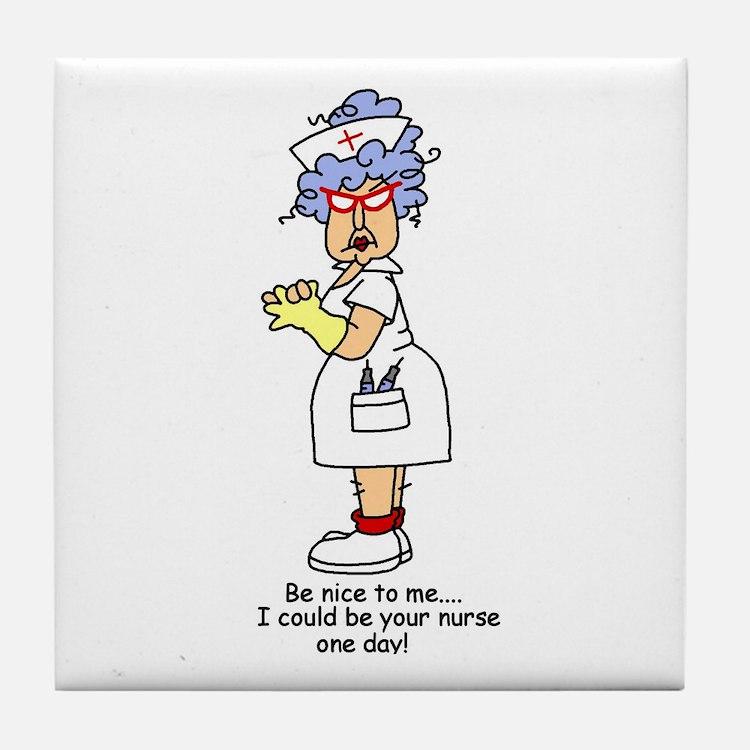 Be Nice Nurse Tile Coaster