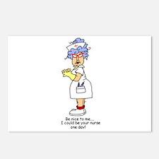 Be Nice Nurse Postcards (Package of 8)