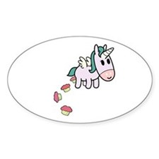 Unicorn Sweets Oval Decal