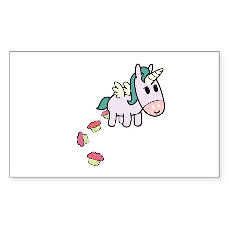 Unicorn Sweets Rectangle Sticker