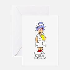 Nurse No Joking Greeting Card
