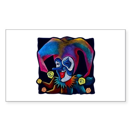 Jester Rectangle Sticker 10 pk)