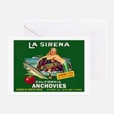 La Sirena Mermaid Sardine Lab Greeting Card