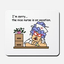 Nurse on Vacation Mousepad