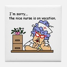 Nurse on Vacation Tile Coaster