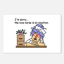 Nurse on Vacation Postcards (Package of 8)