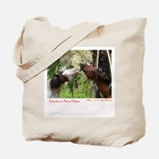 Abao Horses Eating Flowers Tote Bag