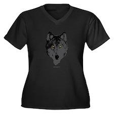The Wolf... Women's Plus Size V-Neck Dark T-Shirt