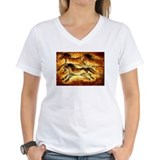 Cave painting Womens V-Neck T-shirts