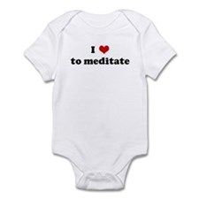 I Love to meditate Infant Bodysuit