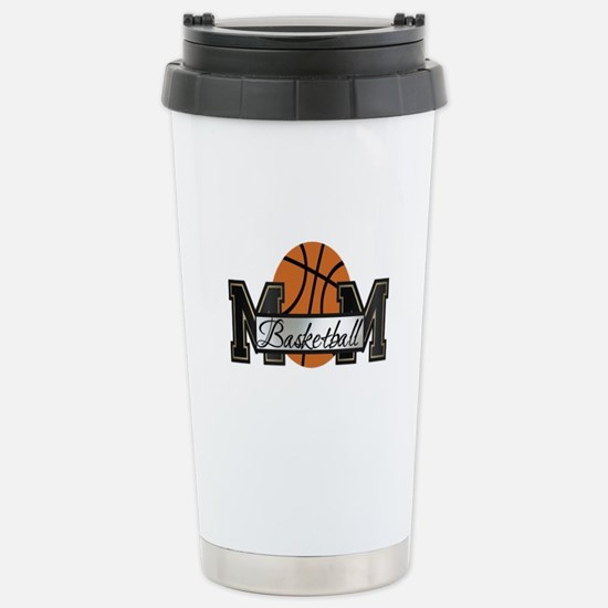 Basketball Mom Stainless Steel Travel Mug