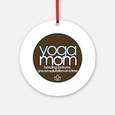 yoga mom t-shirt Ornament (Round)