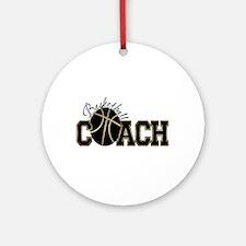 Basketball Coach Ornament (Round)