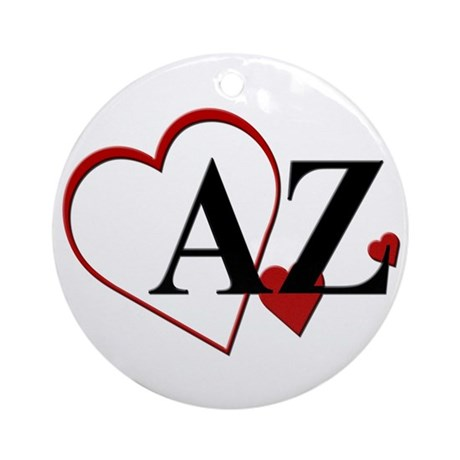 Love Arizona Heart Ornament (Round)