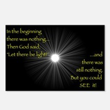 Let There Be Light Postcards (Package of 8)
