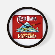Crest Blanca Sardine Label Wall Clock