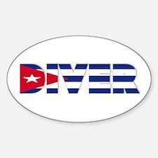 Diver: CUBA Oval Decal