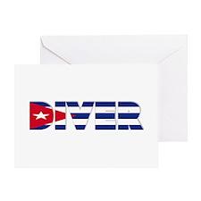 Diver: CUBA Greeting Card
