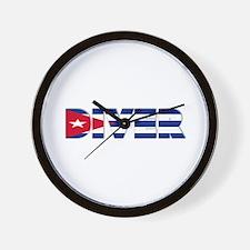 Diver: CUBA Wall Clock