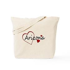 I Love Arizona Hearts Tote Bag