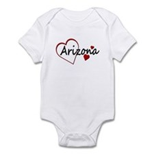 I Love Arizona Hearts Infant Bodysuit