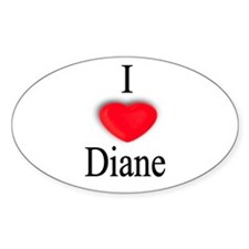 Diane Oval Decal