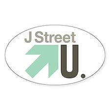 J Street U Oval Decal